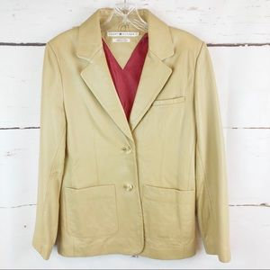 Tommy Hilfiger | 100% Leather Blazer, Size 4